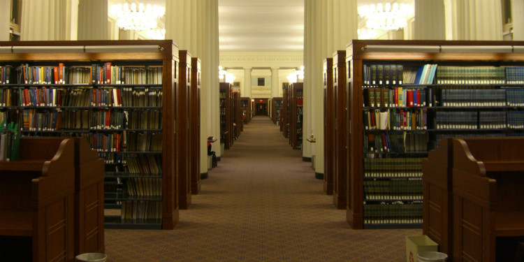 Harvard Law School library by Samir Luther